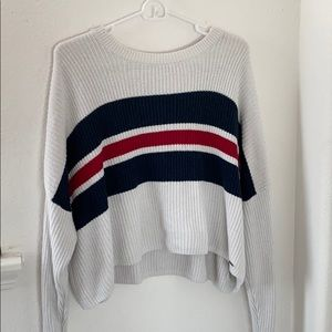 cropped hollister striped sweater